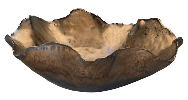 Large Peony Bowl, Antique Gold