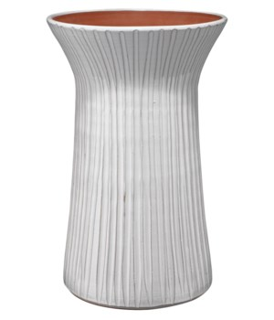 Tall Podium Vessel, White