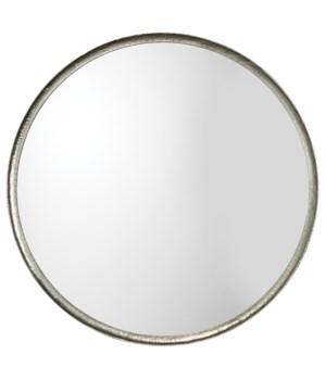 Refined Round Mirror, Silver