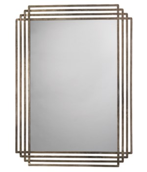 Serai Antique Silver Grid Mirror
