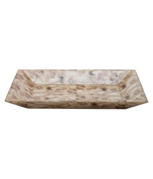 Cream Faux Agate Tray