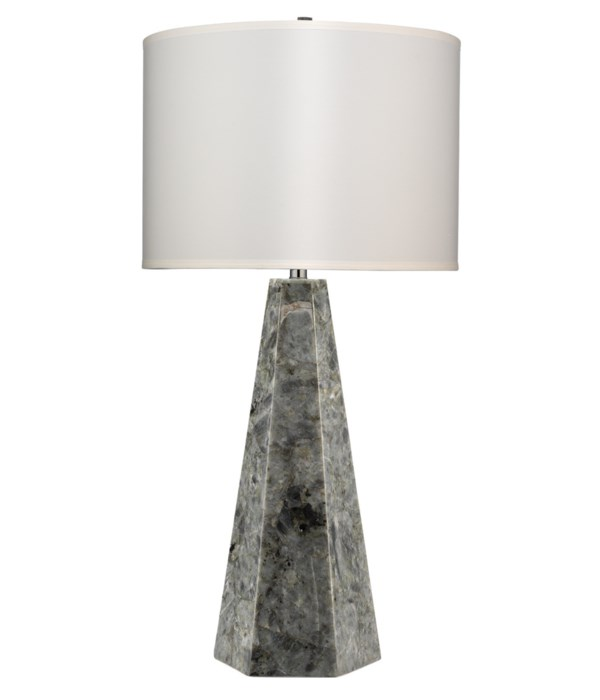 Borealis Hex Lamp, Labradorite