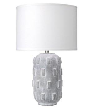 Boulder Table Lamp, Grey
