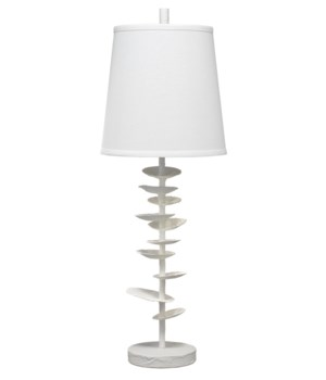 Petals Table Lamp, White Gesso