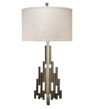 Skyscraper Table Lamp, Champagne Leaf