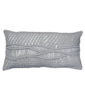 Indio Grey Macramé Pillow
