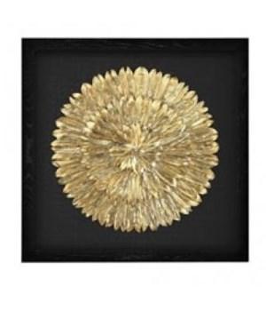 Gold Feather Spiral Art