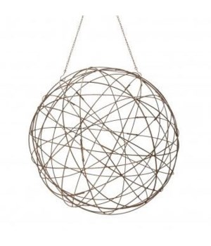 Aged Iron Wire Sphere, Lg