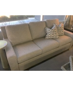Sandy Sofa, 3 over 3, Eton Oyster, Gr 2, White Wash