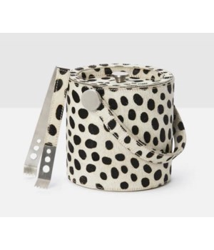 Bandar Dalmatian Hide on Hide Ice Bucket with Tongs