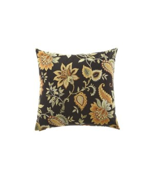 Veranda Square Black Pillow