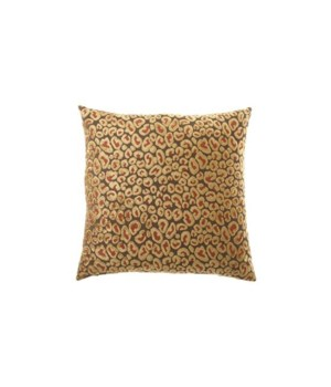 Cheetah Square Ruby Pillow
