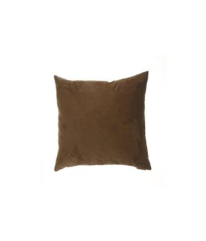 Passion Suede Square Chocolate Pillow