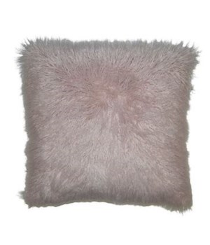 Llama Fur Square Blush Pillow