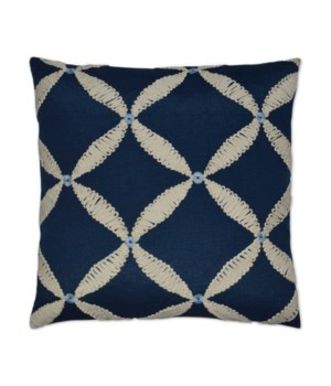 Windward Square Blue Pillow