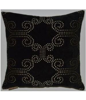18x18 Tang Black Pillow