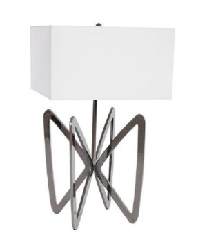 Butterfly Table Lamp, Plated Black Nickel