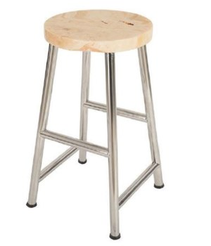 Onyx Bar Stool, Stainless Legs, Round
