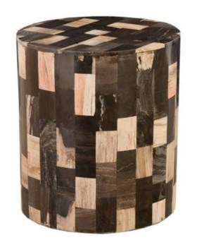 Petrified Laminate Stool, Brown/Black