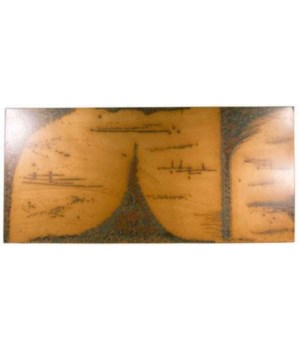 Abstract Copper Patina Wall Art, Large