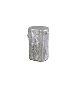 Log Stool, Silver Leaf, Sm