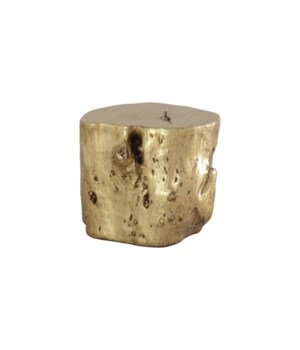 Log Stool, Gold Leaf, Large