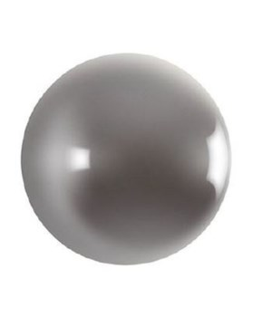 Ball on the Wall, Polished Aluminum, Small