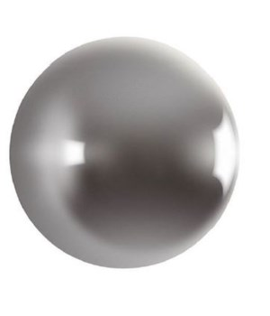 Ball on the Wall, Polished Aluminum, Medium
