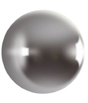Ball on the Wall, Polished Aluminum,, Large