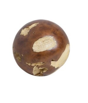 Cast Root Floor Ball, Resin, Natural Finish, Small