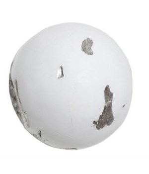 Cast Root Wall Ball, Resin, White, Small