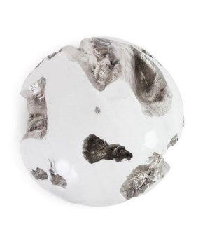 Cast Root Wall Ball, Resin, White, Large