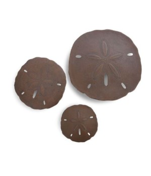 Sand Dollars, Bronze, Set of 3