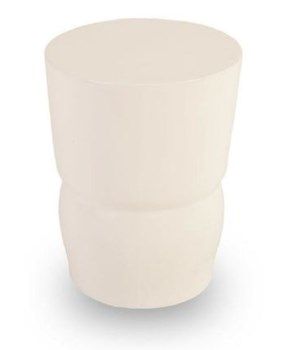Craved Stool, Gel Coat White