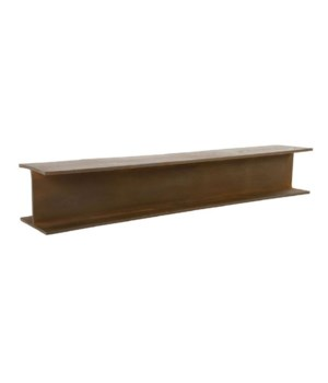 I-Beam Wall Shelf, Rusty Iron