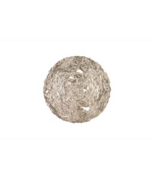 Molten Disc Wall Art, Silver Leaf, Medium