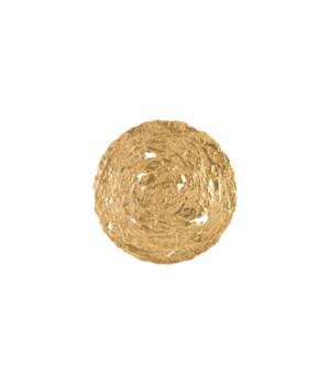 Molten Disc Wall Art, Gold Leaf, Medium
