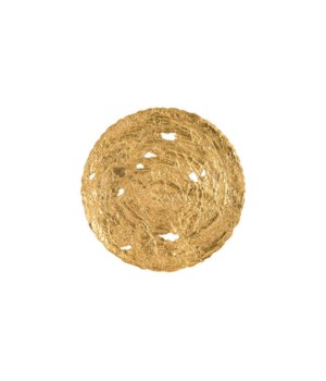 Molten Disc Wall Art, Gold Leaf, Large