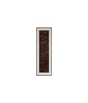 Flicker Wall Art, Rectangle, Black, Copper