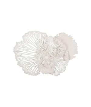 Flower Wall Art, White, Medium