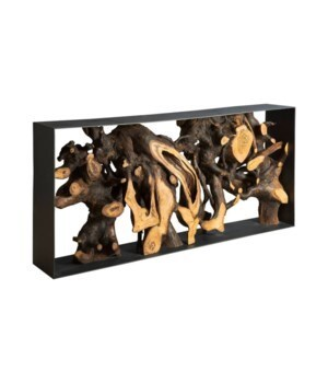 Mai Theng Console Table, Iron Sheet Frame