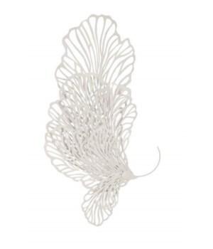 Butterfly Wall Art, White, Medium