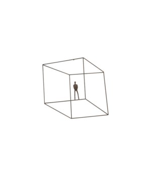 Perspective Wall Art Square, Standing Arm Down