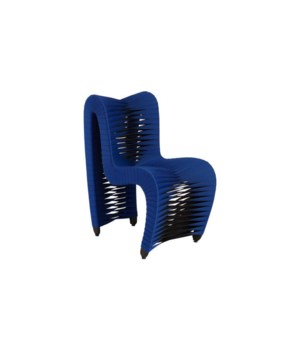 Seat Belt Dining Chair, Blue/Black