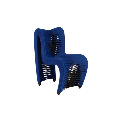 Seat Belt Dining Chair Blue Black