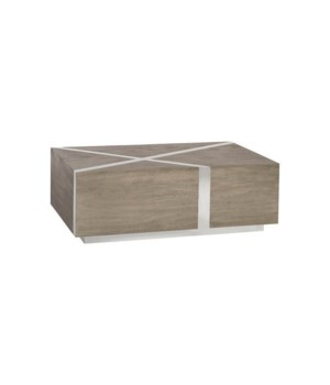 Intersection Coffee Table, Grey/Silver