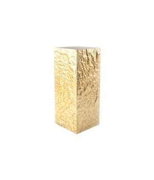 Crumpled Pedestal, Gold, Medium