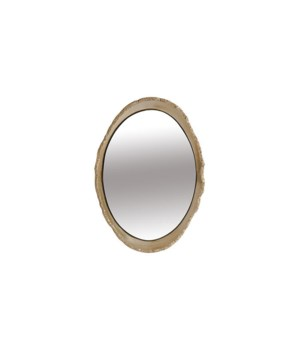 Broken Egg Mirror, White and Gold Leaf