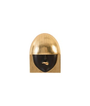 Fashion Girls Wall Face, Pout, Gold Leaf, Large