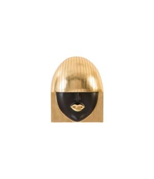 Fashion Girls Wall Face, Smile, Gold Leaf, Large